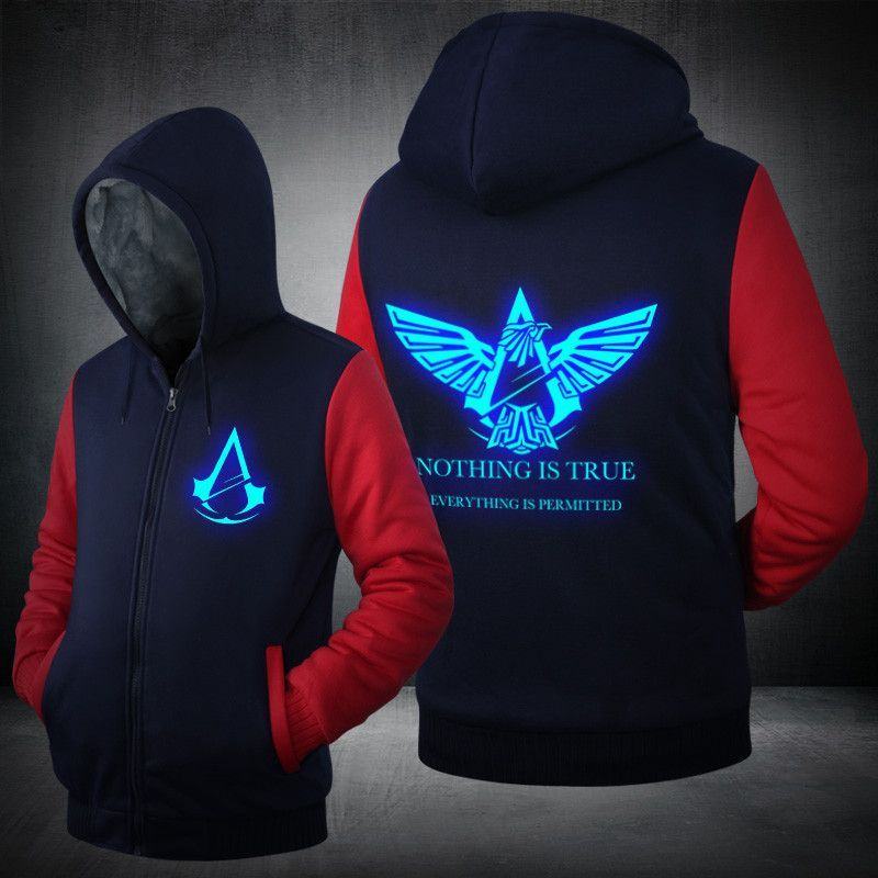 Custom Made Assassin Creed Zip Hoodie