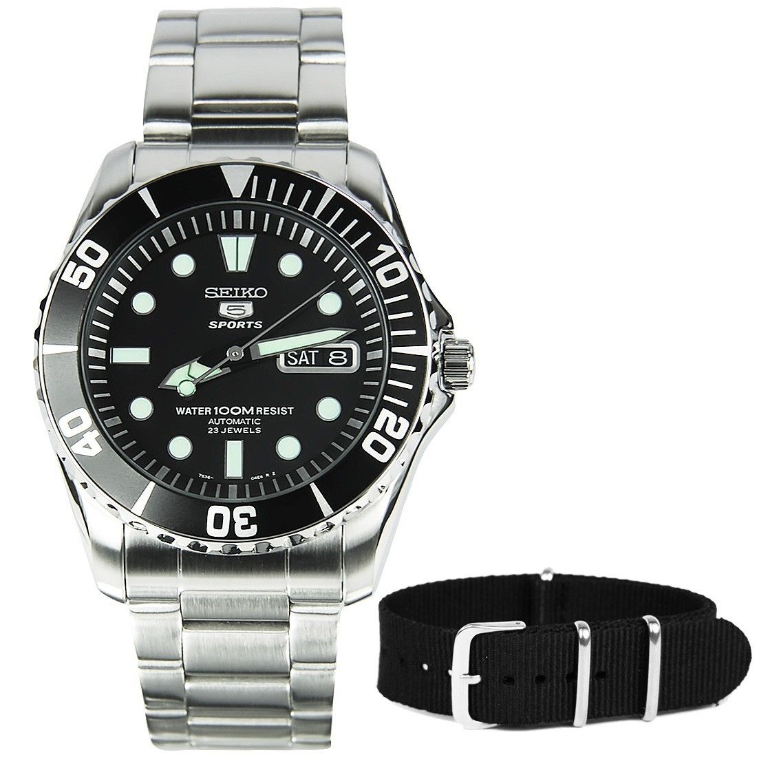 SNZF17K1 Seiko 5 Sports Watch with additional band #sportswatches