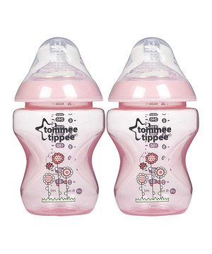 Tommee Tippee Pink Decorated Bottles Tommee Tippee Pink Deco 9Ozbottle  Set Of Two  Tyxgb76Aj