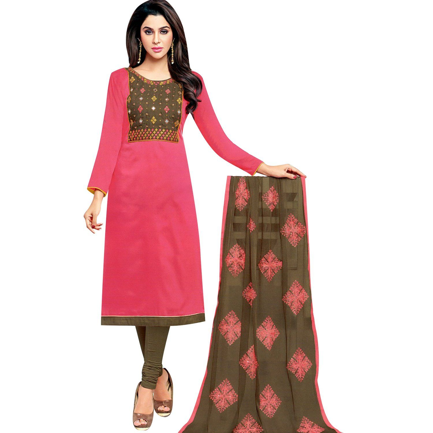 ea9f39bc4a LADYLINE Womens Cotton-Silk Embroidered Salwar Kameez Formal Indian Dress  Ready to wear Salwar Suit #SalwarKameez #NewStuff #ShopNow #LowestPrice ...