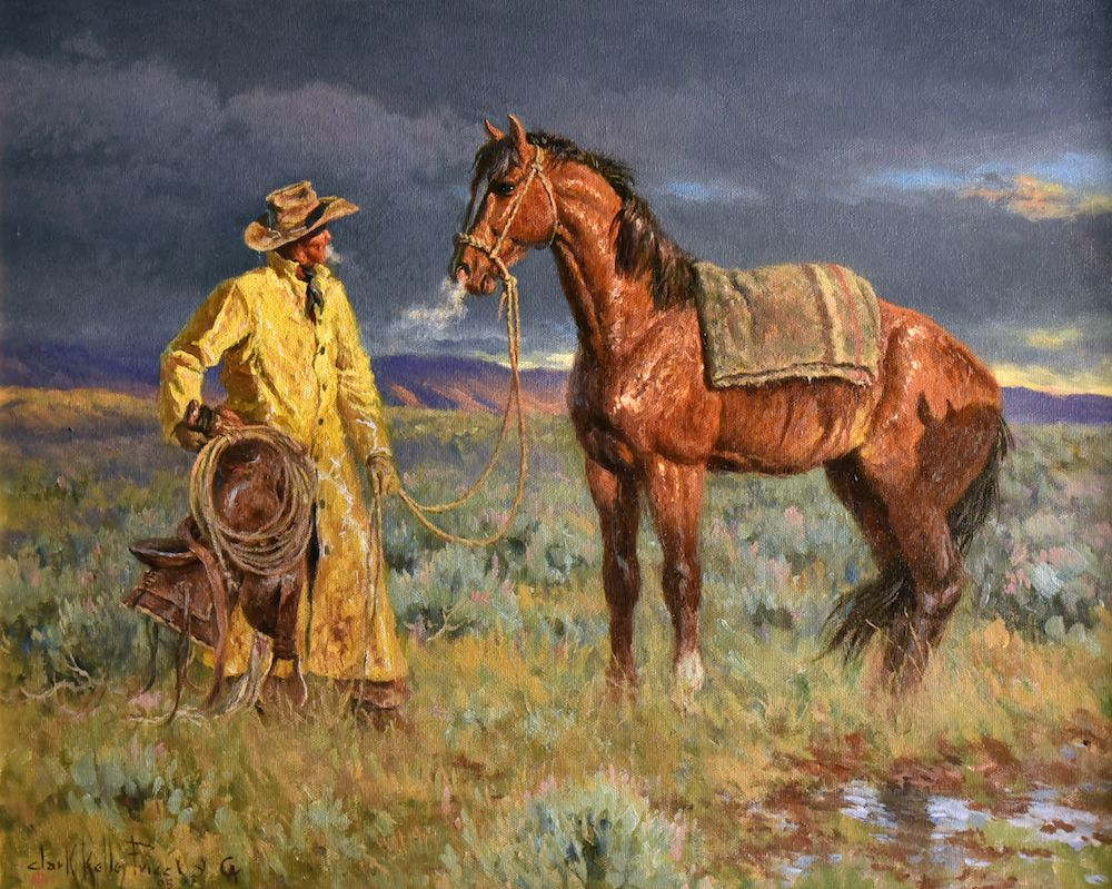 Cold wet back artist clark kelley price pinturas indios for Oil paint price
