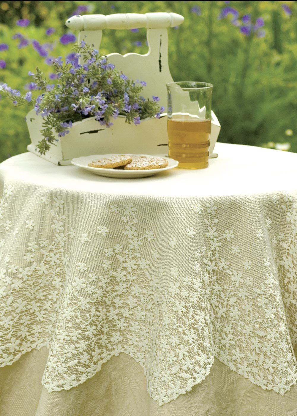 Blossom Round Table Topper Table Toppers Heritage Lace Lace Table
