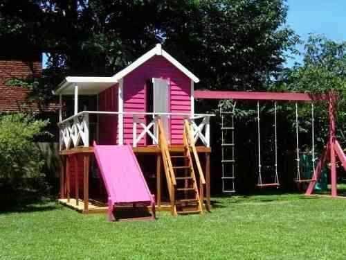 Casitas de madera para ni os por dentro imagui jard n for Casa infantil jardin