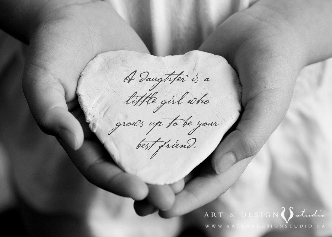 Daughter Quote Inspirational Gift for by inspiredartprints