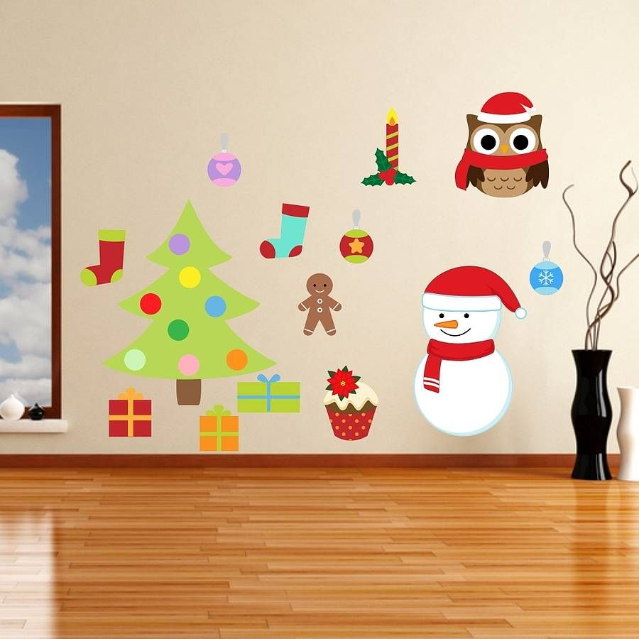 Removable Christmas Wall Stickers By Mirrorin Notonthehighstreet - Christmas wall decals removable