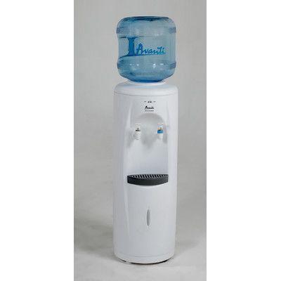 Water Cooler Dispenser Top Load Floor Standing Stainless Steel Reservoir White