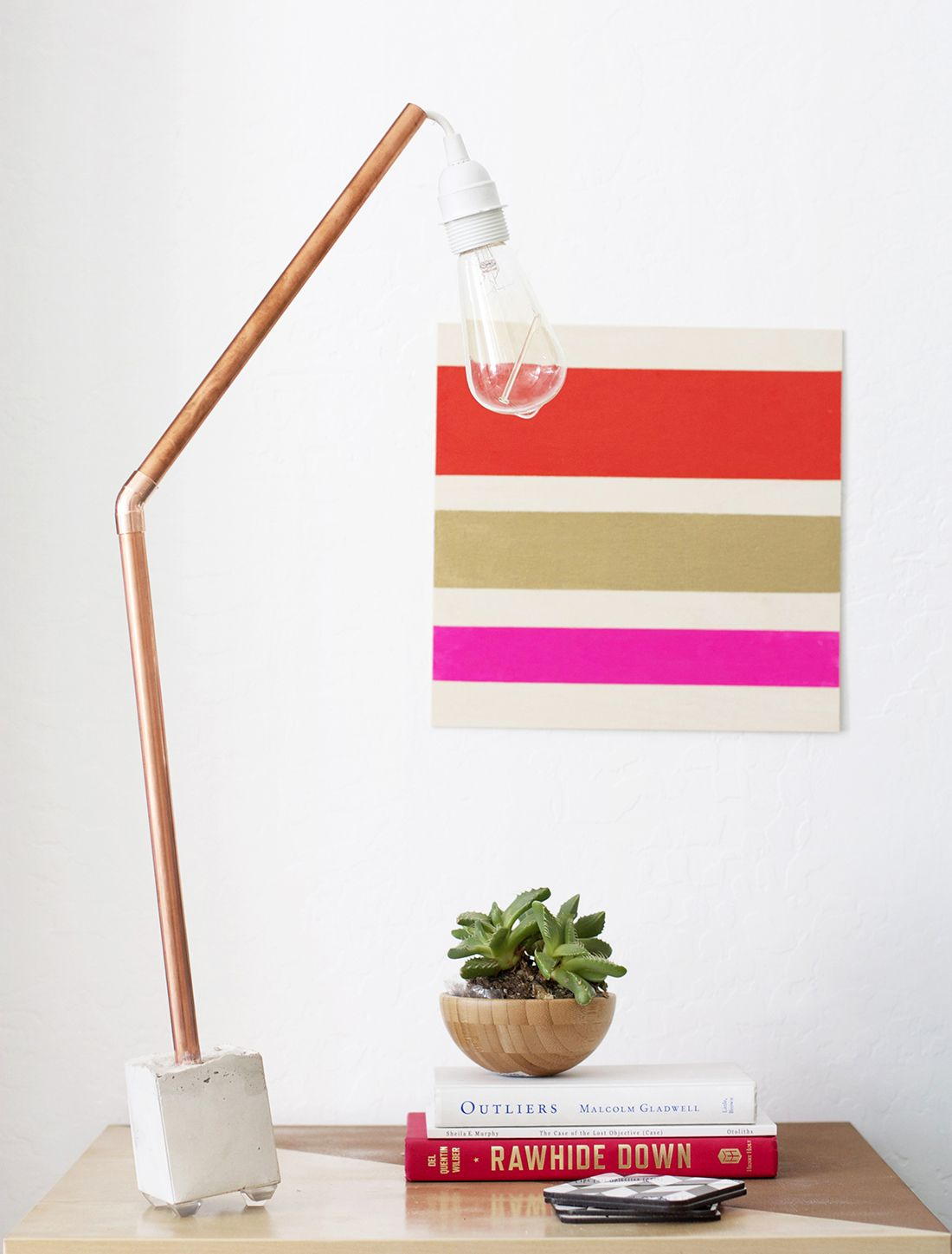 Let there be light 2 ways to make a copper concrete lamp lamp diy ive been dying over copper of late as have many arubaitofo Images