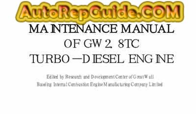 Download Free Great Wall Wingle Hover Gw2 8tc Repair Manual Engine Image By Autorepguide Com Repair Manuals Repair Repair And Maintenance