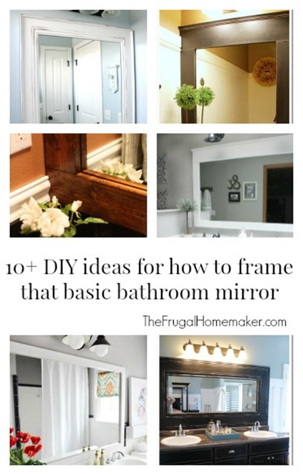 Bathroom Mirror Update Ideas how to frame out that builder basic bathroom mirror (for $20 or