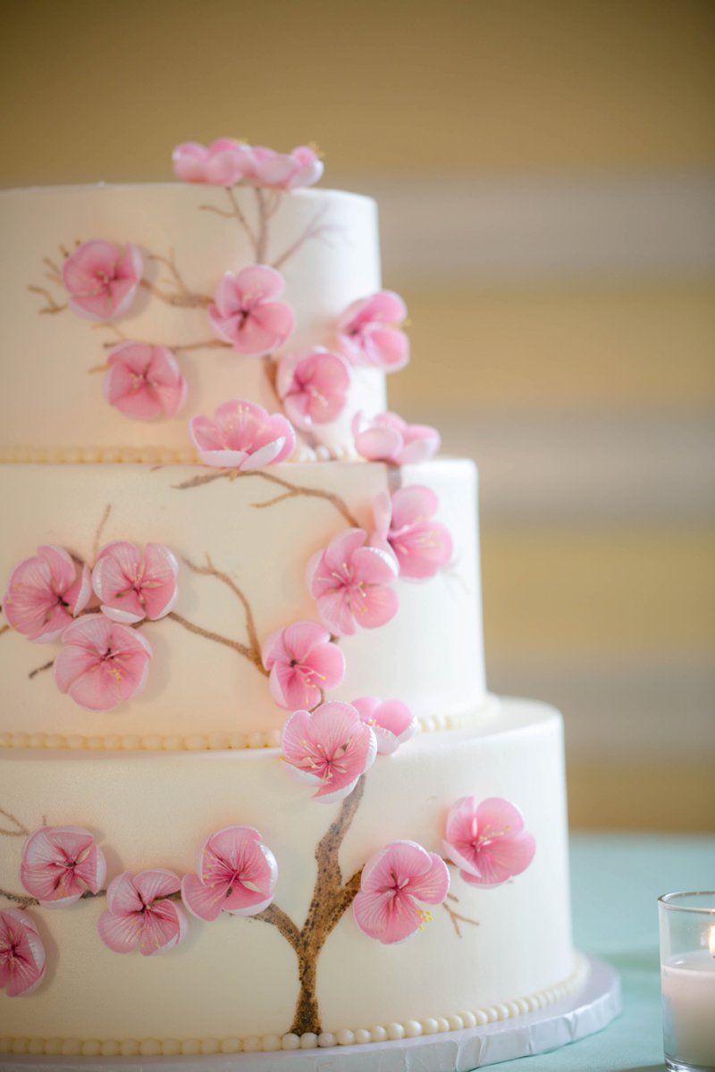 A Navy and Peach DC Wedding   Flores de cerezo, Cerezo y Flores