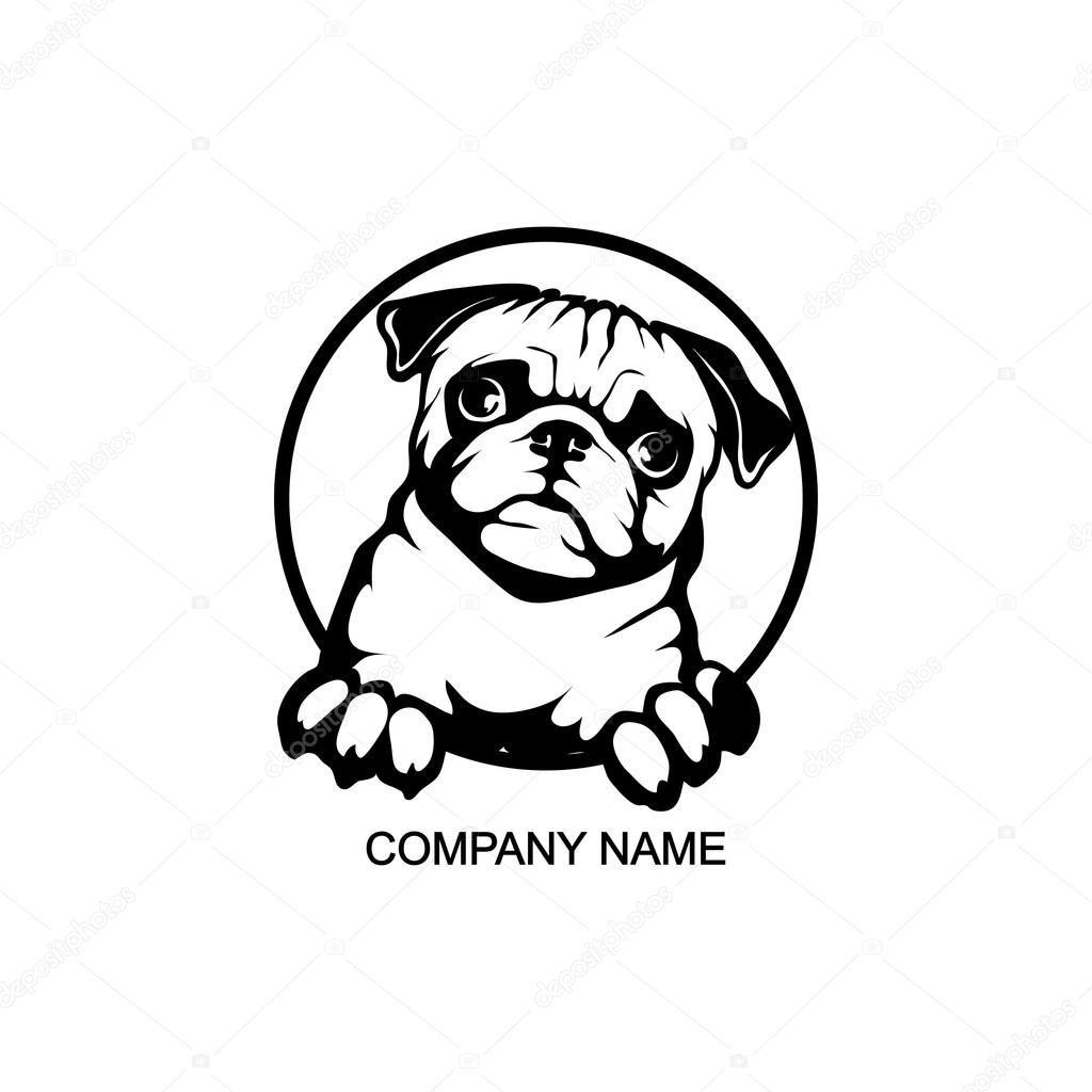 Image Result For Dog Logo Pug Dog Dog Logo Pug Art
