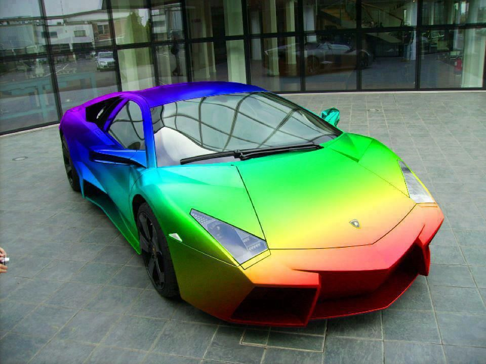 Rainbow Lamborghini Wheels Lamborghini Cars Car Paint Jobs