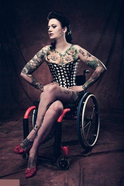 Sexy disabled woman
