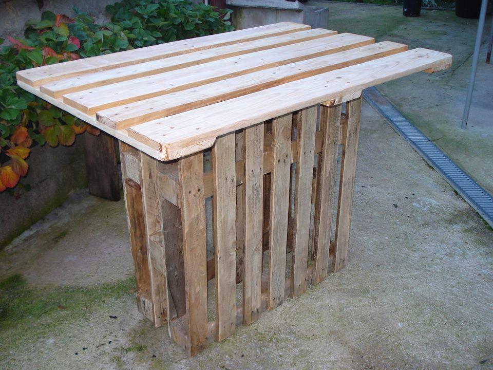 pallet bar table - Google Search | Pallet bar, Wood pallet ...