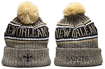 544869d6f Amazon.com   Big Fully NFL Knit Hat Cap On-Field Sport Adult Winter Warm  Stretchy Pom Beanie for Men Women (New Orleans Saints)   Sports   Outdoors