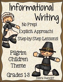 Need a great, no prep writing unit for November? Then this is for you! This unit provides explicit instruction for students on how to write an informational paper. Mini-lessons, writing papers, and informational pages are included!  The unit is differentiated to meet the needs of various levels of students. There is no prep needed for this unit! Just select the pages you want and print them for your students.$