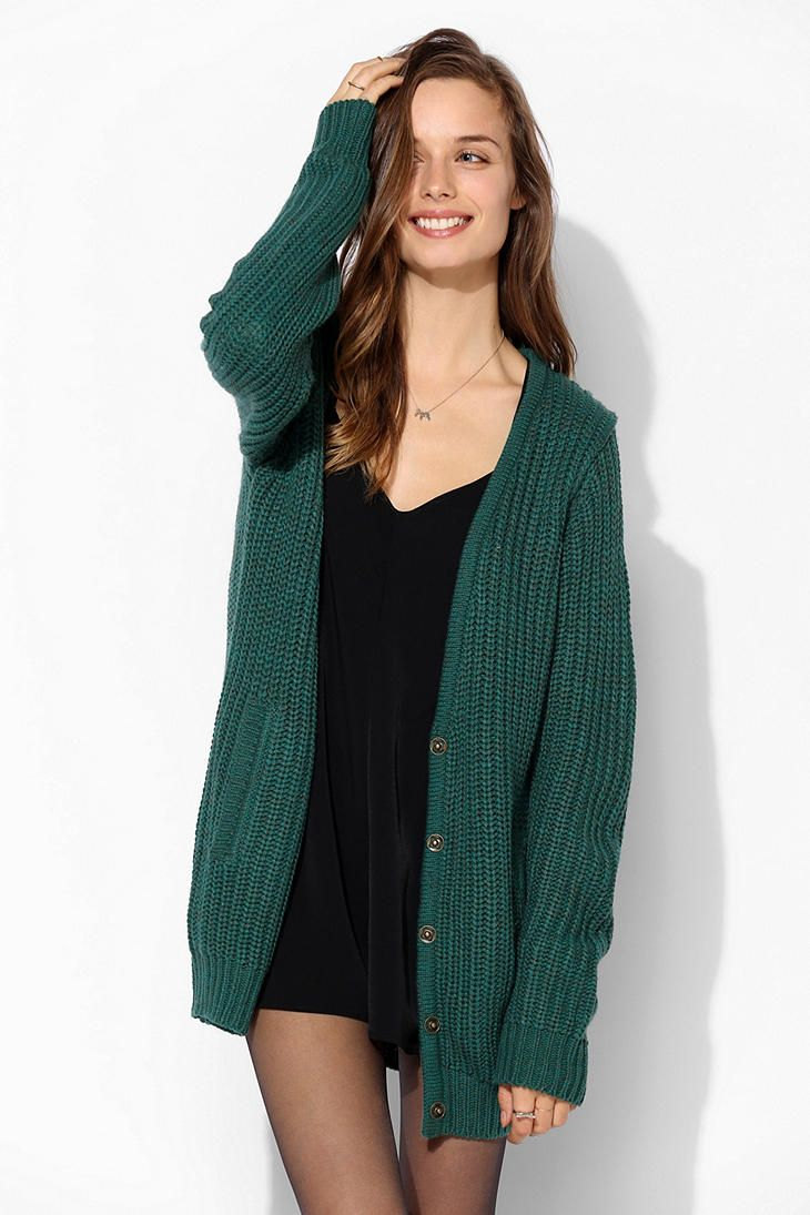 Sparkle & Fade Boyfriend Snap-Front Cardigan #sweaters ...