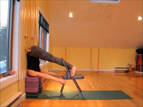 neck traction using 8 blocks  youtube  iyengar yoga