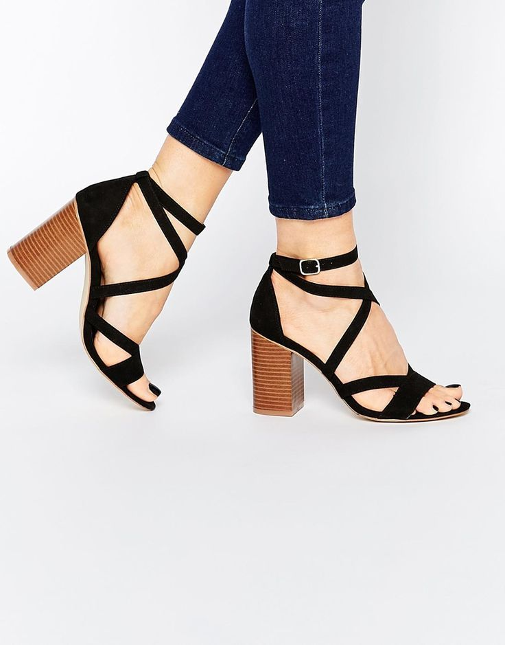 strappy block heel sandals | shoes | Pinterest | Block heels ...