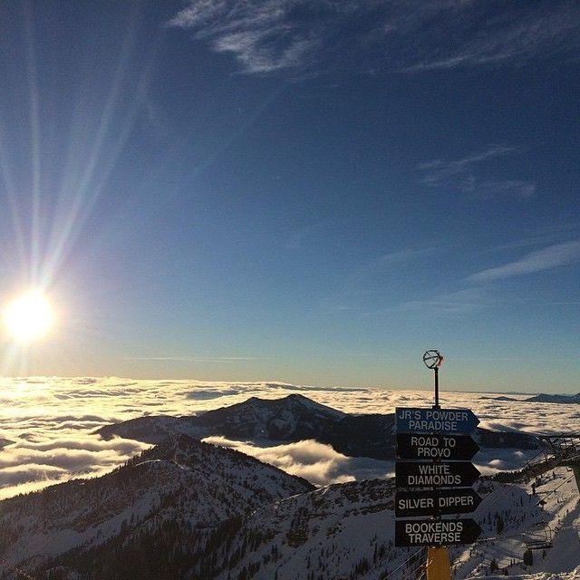 Good Morning From Snowbird Morning Sunrise Bluesky Snow Mountain Utah Ski Trip Scenery Instagram Photo