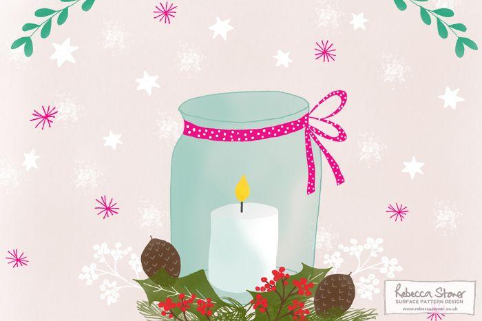 Illustrated Advent Challenge 2015 - Rebecca Stoner Surface Pattern Design #surfacepatterndesign