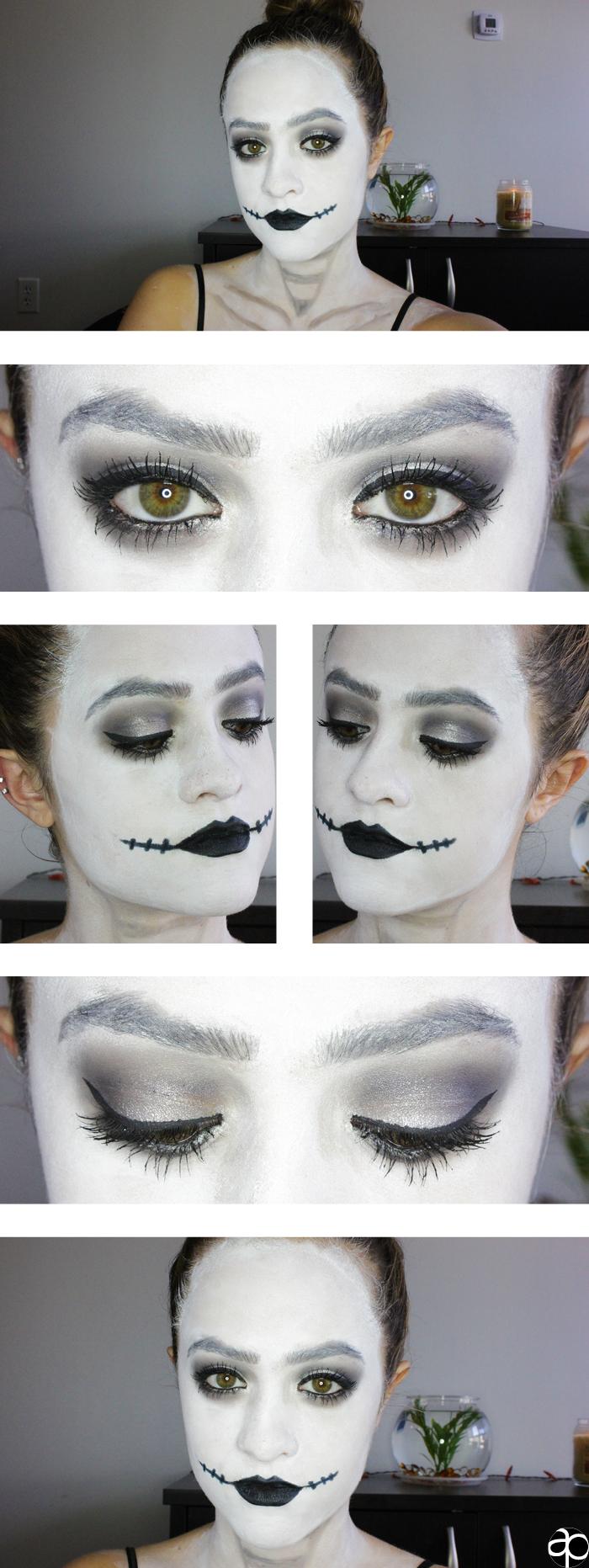 Halloween corpse bride makeup tutorial purdybeautytips halloween