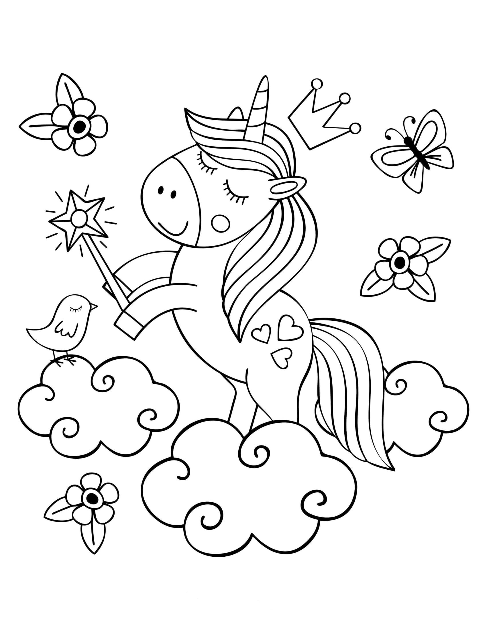 ציור של חד קרן In 2021 Unicorn Coloring Pages Zoo Coloring Pages Spring Coloring Pages [ 2200 x 1700 Pixel ]