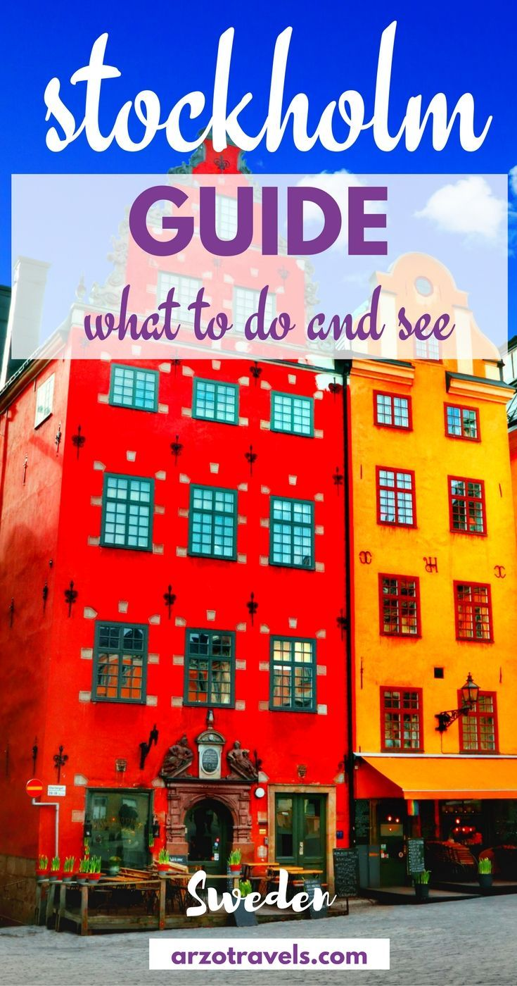 What to do and see in beautiful Stockholm. 13 places you should not miss and some more important travel information. Sweden, Europe. Also tips on where to sleep, where to eat, and how to get around.