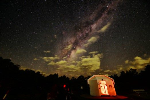 Travel through the night sky at Perth Observatory (With