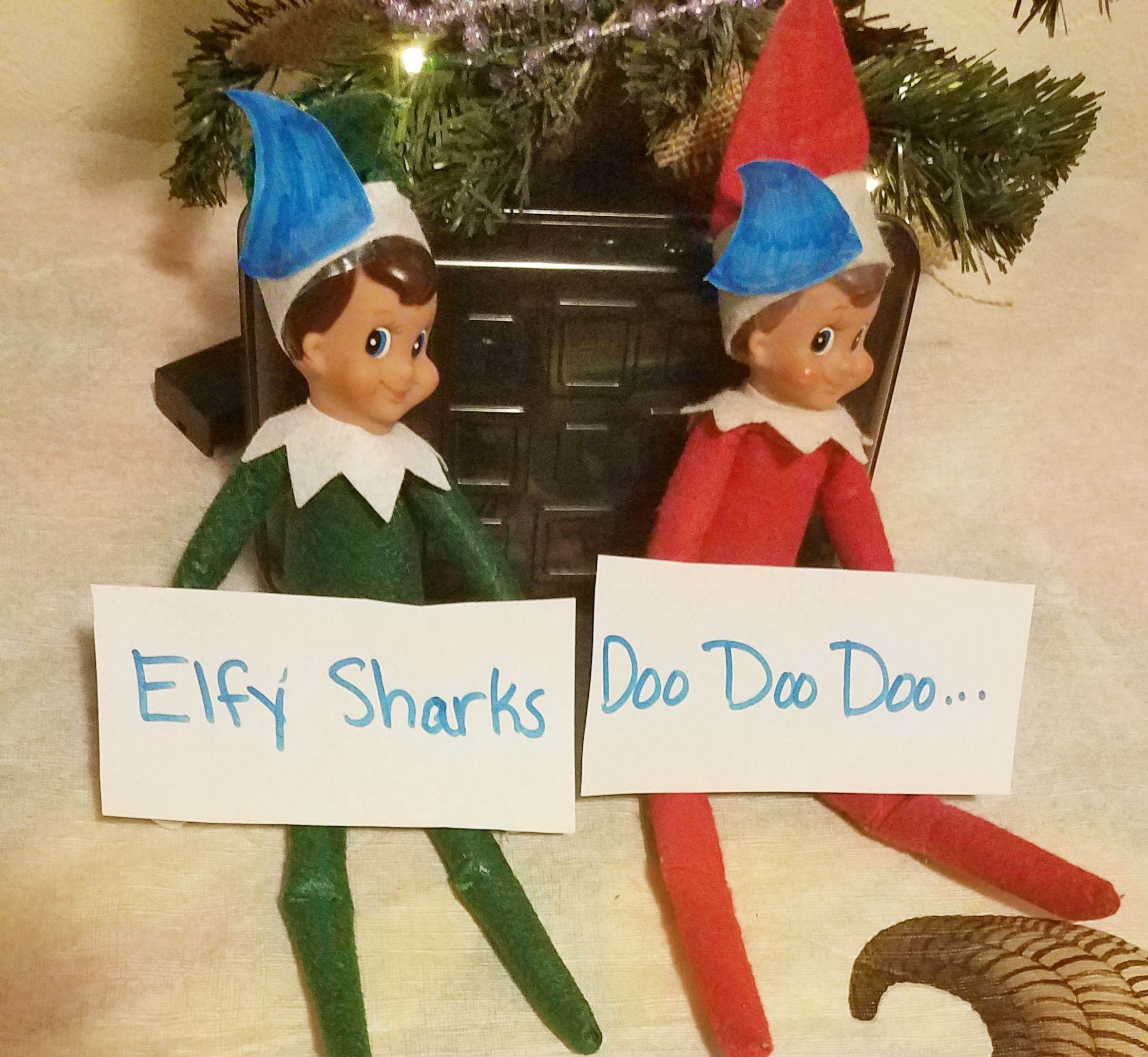 Elf On The Shelf For The Little Ones Who Love Baby Shark Elfy