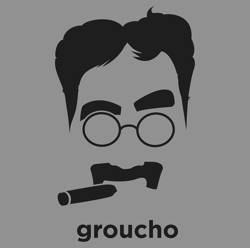 Groucho Marx American Comedian And Film And Television Star He Is Known As A Master Of Quick Wit And Widely Co Groucho Marx Groucho Illustrations And Posters
