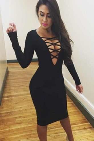 da18d7ae67115 dress bold v neck evening dress wots-hot-right-now bandage dress ...