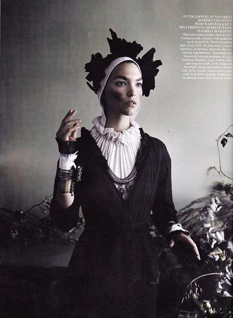 "Arizona Muse in Nina Ricci - ""Master Class"" by Mario Testino for UK Vogue September 2011 by Winter Phoenix, via Flickr #baroque"