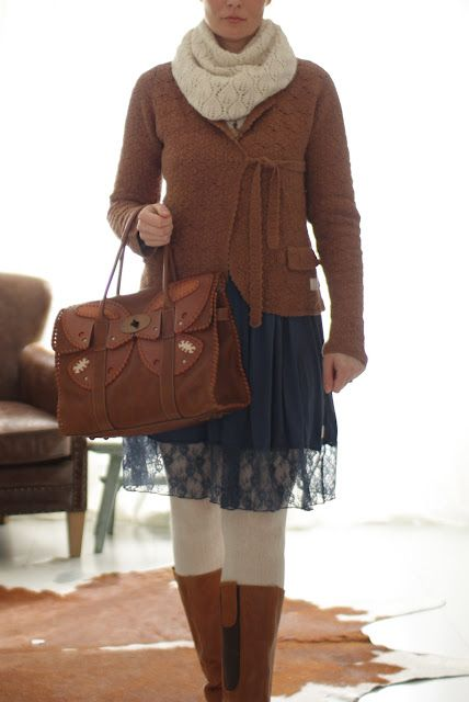 Odd Molly's Easy V-dress and Lovely knit