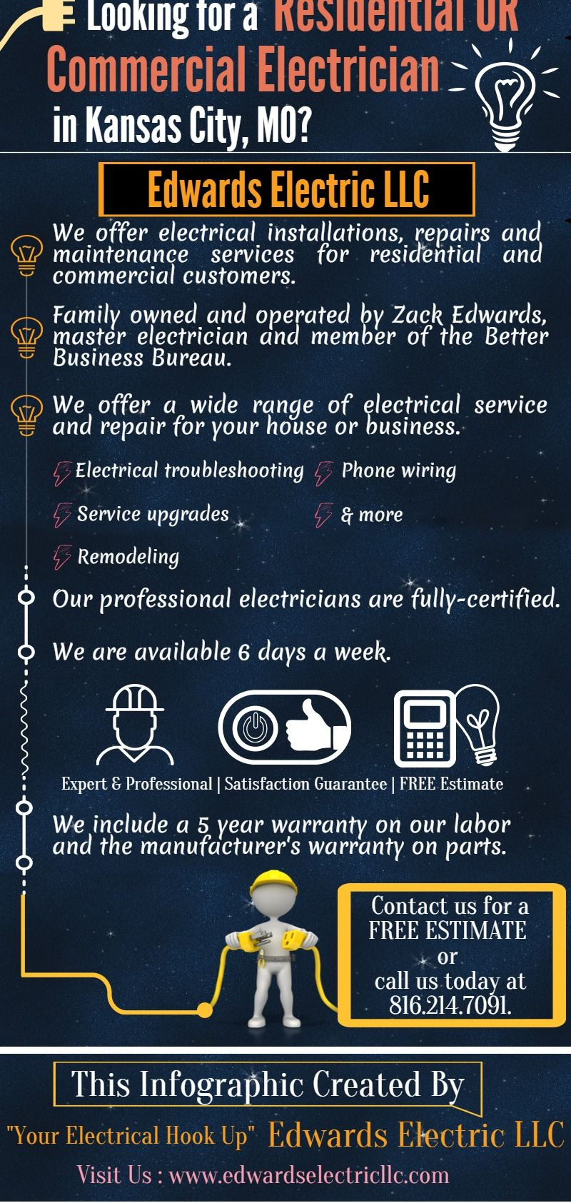 Qualified Electricians In Kansas City At Edwards Electric Llc Our Residential Wiring Upgrade Team Of Trained Electrical Contractors Will Be Capable Serving For All