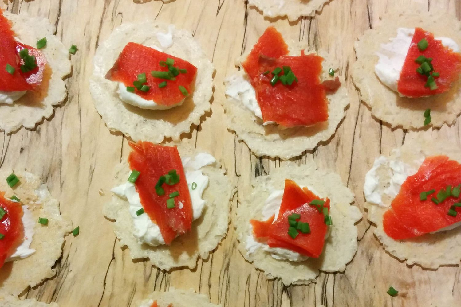 Smoked Salmon Canapes. Quick & Easy appetizer.