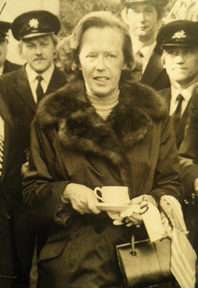 Lady St Oswald (nee Marie Wanda Jaxa-Chamiec), wife of the 4th Baron St Oswald. She died in 1981.