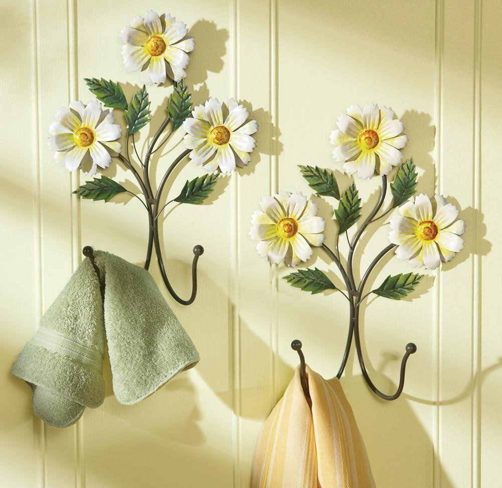 Amazon.com: Spring Daisy Bathroom Ensemle Collection Decoration ...