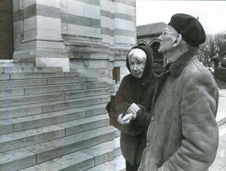 Samuel Beckett with his wife Suzanne Déchevaux-Dumesnil. | Samuel beckett,  Playwright, Samuel