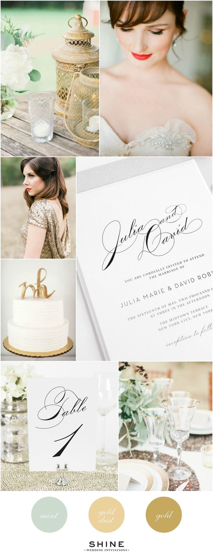 Stunning Mint And Gold Wedding Inspiration With Our Most Classic Invitation Vintage Table Numbers
