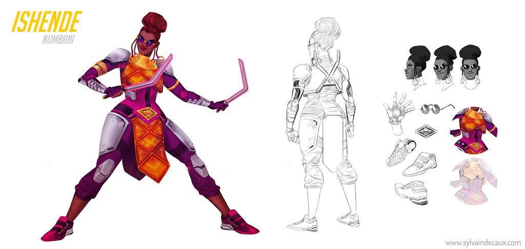Overwatch Character Design Concept Art : Ishende from overwatch fanart by urbanmelon on