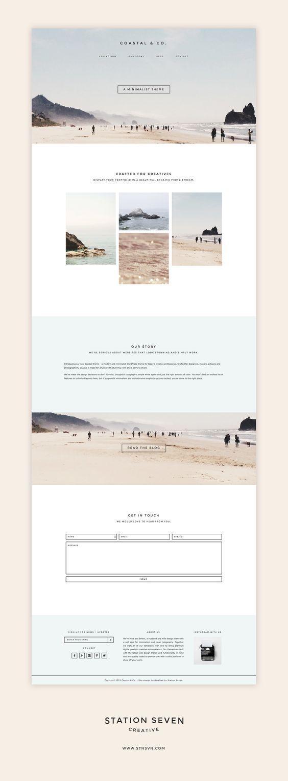Photo of Begrüßen Sie das Coastal WordPress-Thema. Ein minimalistisches Design gepaart mit eComm … Design