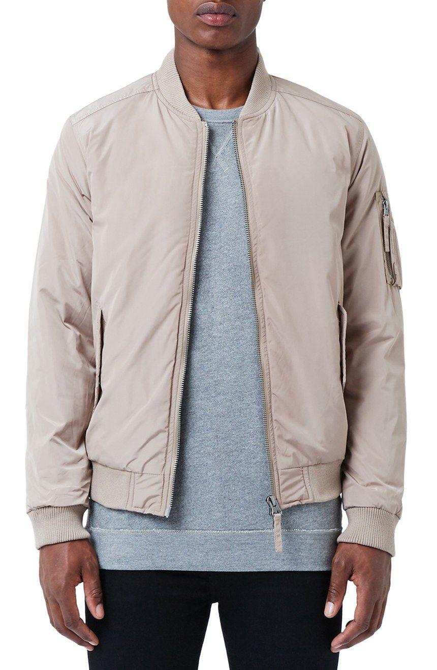 Men/'s Fashion Bomber Jacket with Flap Pockets