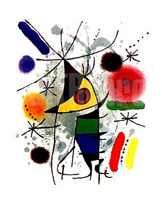 """The Singer."" Shows how Miró used things like his signature star and basic colors to paint art."