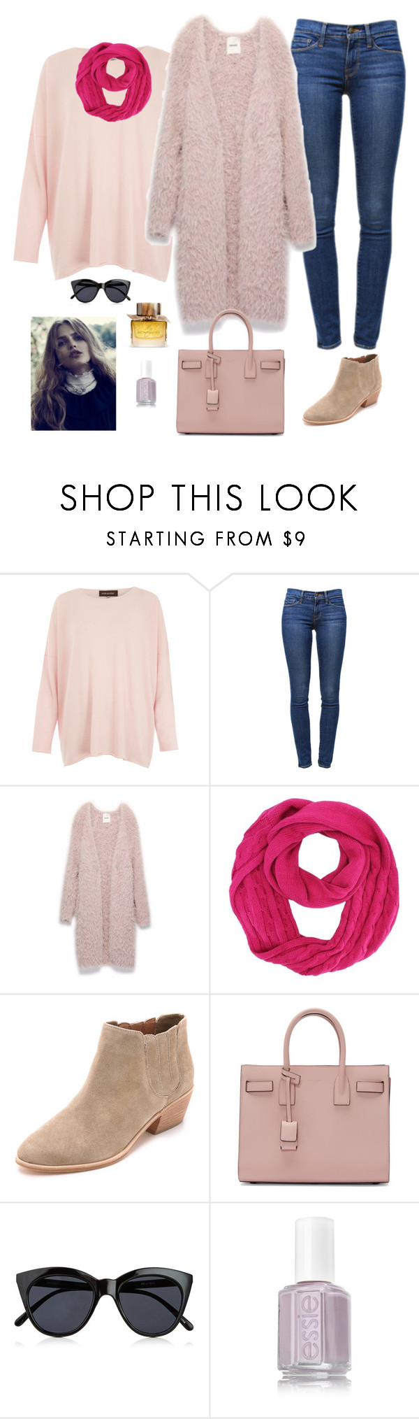 """Untitled #860"" by azra-99 ❤ liked on Polyvore featuring Eskandar, Frame Denim, Joie, Yves Saint Laurent, Le Specs and Burberry"