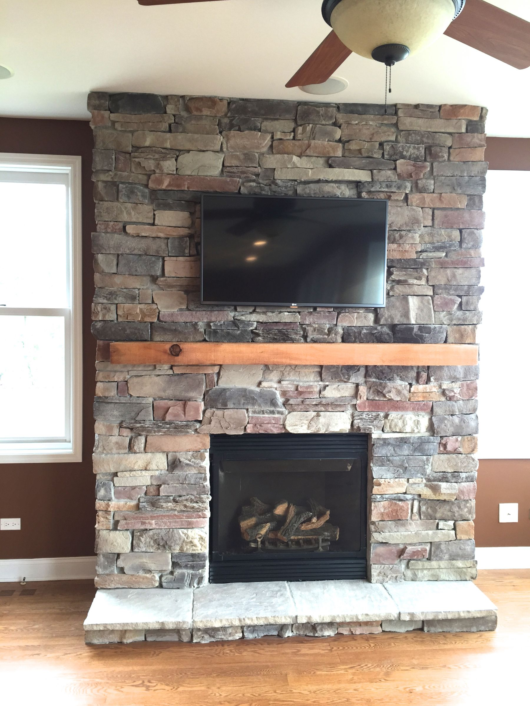 Level Up Your Fireplace With Our Most Textured Mountain Ledge Stone Veneer.  Visit Us!