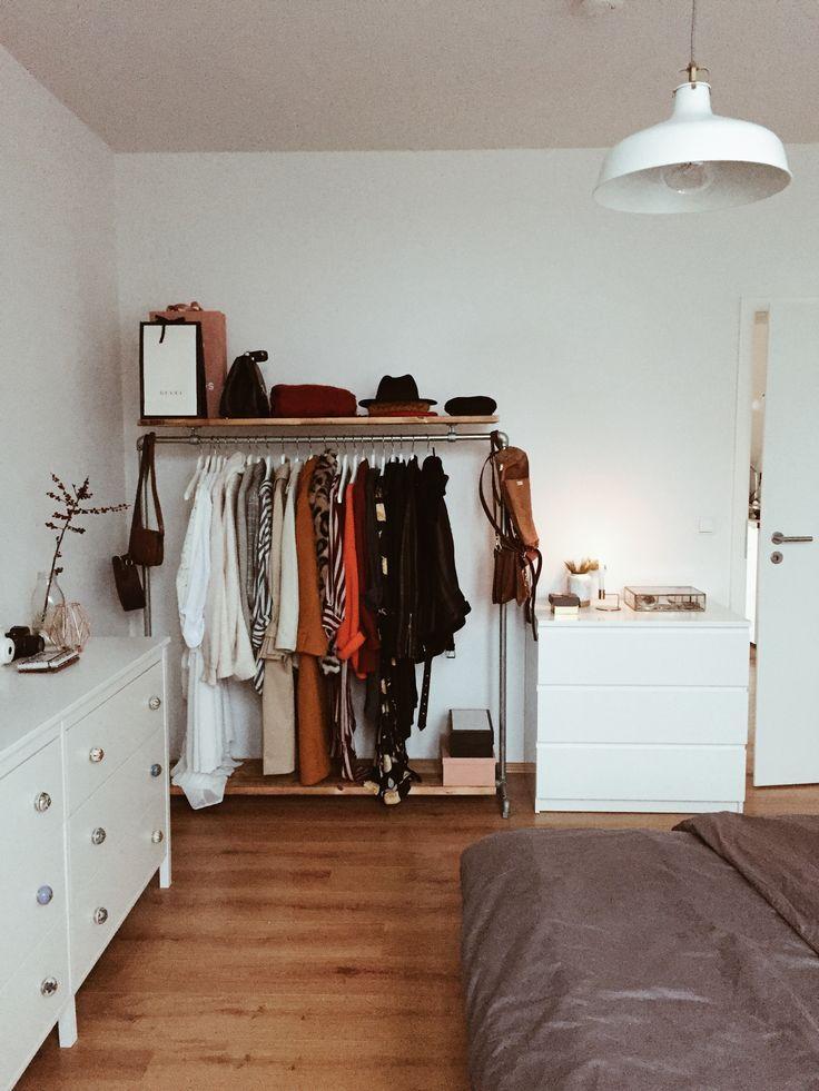 Freestanding cast iron open closet with shelf on top - -