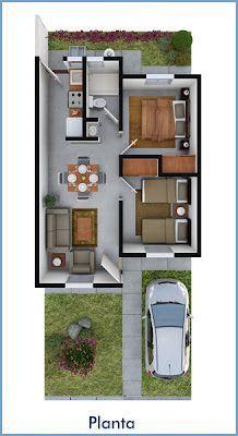 planos de casas 6 x 17