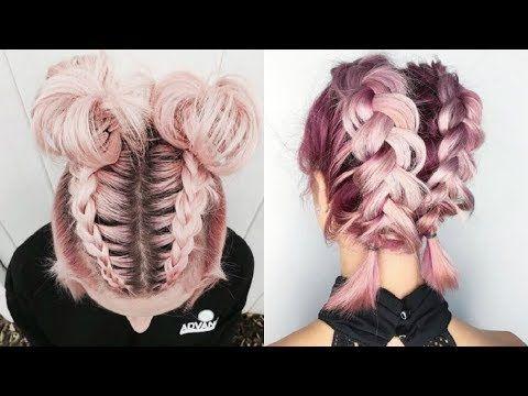 Peinados fciles para cabello corto | Peinado con trenza | hairstyle for short ha…