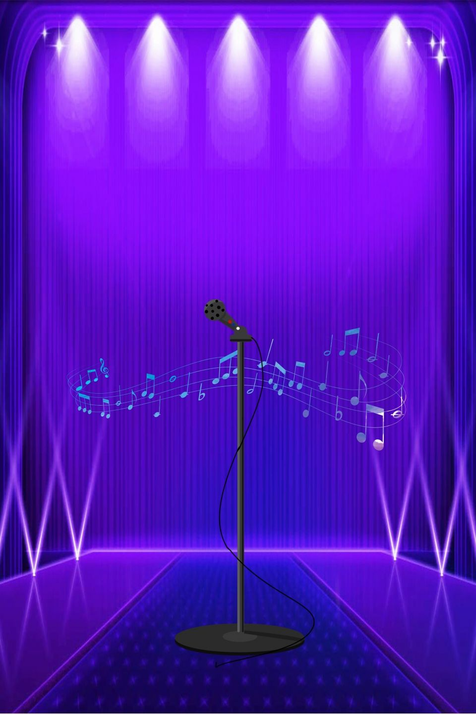 Atmospheric Concert Stage Poster Background Material Concert Stage Banner Background Images Light Background Images